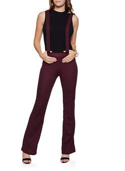 Houndstooth Suspender Pants - 3061020626362