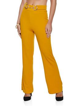 Link Buckle Detail Dress Pants - 3061020627627