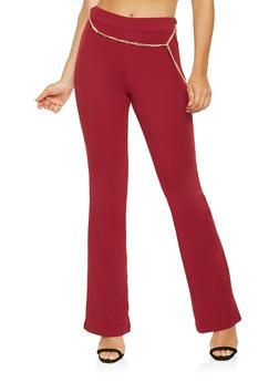 Crepe Knit Flared Pants - 3061020627761