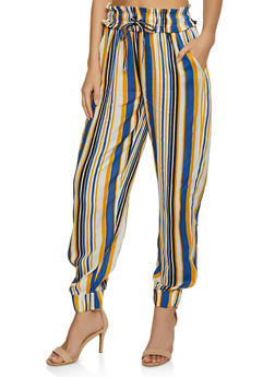 Vertical Striped Joggers - 3061038342020
