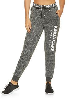 Graphic Knit Sweatpants - 3061051063596