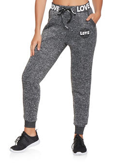 Graphic Knit Sweatpants - 3061051063819