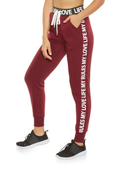 Graphic Trim Sweatpants - 3061051063821