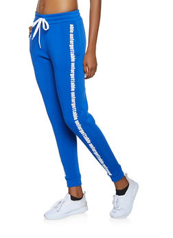 Graphic Print Sweatpants - 3061051063949