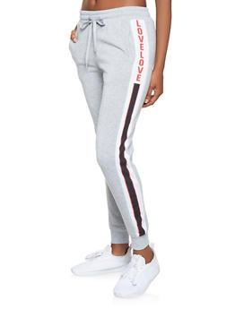 Graphic Fleece Lined Sweatpants - 3061051063956