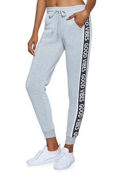 Good Vibes Graphic Joggers - 3061051063957
