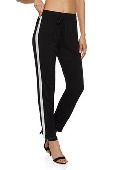 Stripe Detail Casual Pants - 3061054260582