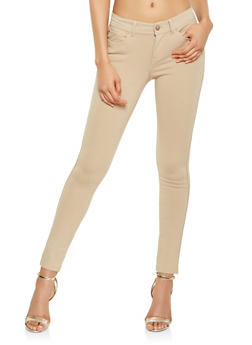 Solid Push Up Ponte Pants - 3061054262149
