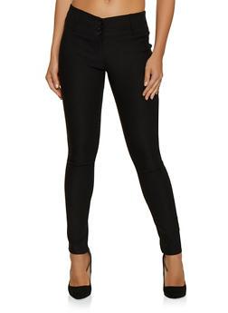 3 Button Skinny Dress Pants - 3061062416773