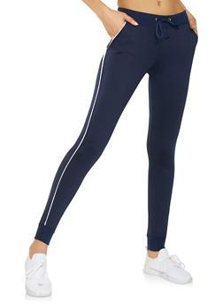 Contrast Trim Sweatpants - 3061062700578