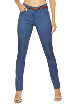 Belted Stretch Pants - 3061062707000