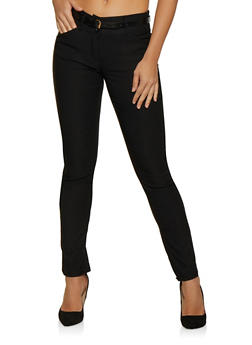 Stretch Belted Dress Pants - 3061062707070
