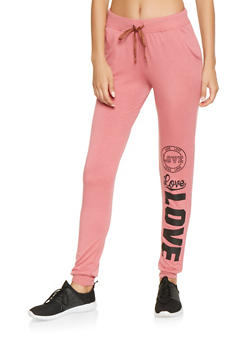 Love Graphic Sweatpants - 3061062708880