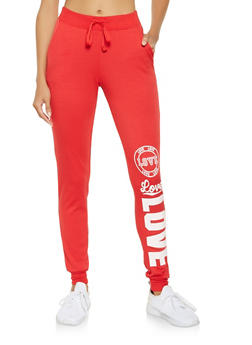 Love Graphic Sweatpants - 3061062708880
