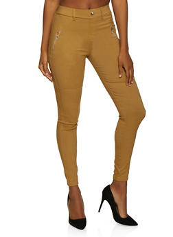 Moto Zip Detail Jeggings - 3061063401207