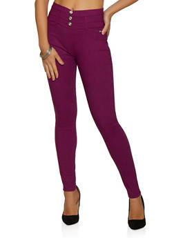 3 Button Hyperstretch Jeggings - 3061063405522