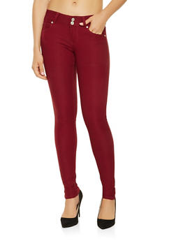 Two Button Hyperstretch Jeggings - 3061069698309