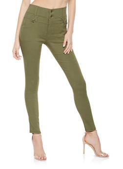 2 Button Stretch Jeggings - 3061072716937