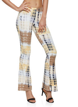 Tie Dye Pull On Flared Pants - 3061074010006