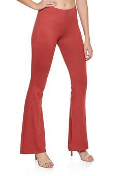 Flared Soft Knit Pants | 3061074010024 - 3061074010024