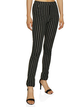 Striped Skinny Dress Pants - 3061074010044