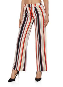 Striped Textured Knit Palazzo Pants | 3061074010087 - 3061074010087