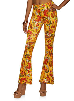 Floral Flared Pants - 3061074010524