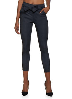 Stretch Tie Front Dress Pants - 3061074011033