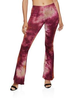 Soft Knit Tie Dye Flared Pants | 3061074015007 - 3061074015007
