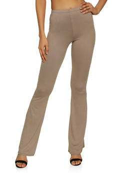 Solid Flared Pants - 3061074015024