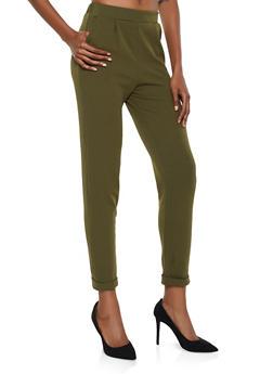 Fixed Cuff Dress Pants - 3061074015108