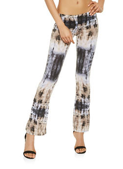 Soft Knit Tie Dye Flared Pants - 3061074015857