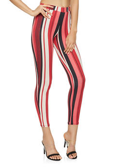 Striped Soft Knit Leggings - 3061074015859
