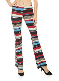 Striped Flared Pants - 3061074015863