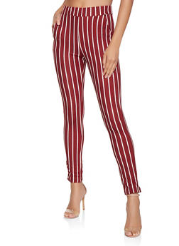 Striped Skinny Pants - 3061074015896