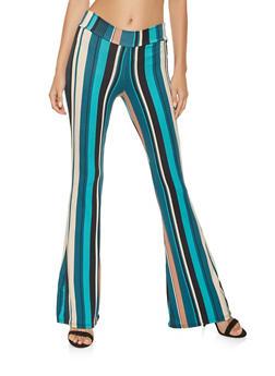 Printed Flared Pants - 3061074015910