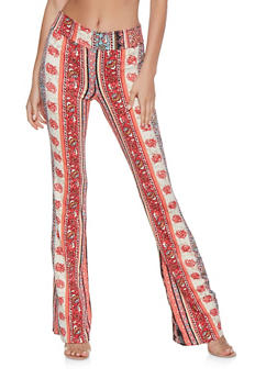 Printed Flared Pants - 3061074015910