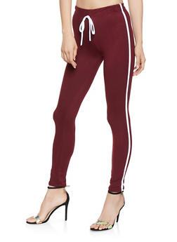 Soft Knit Varsity Stripe Leggings - 3061074015913