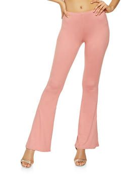 Solid Flared Pants - 3061074015926