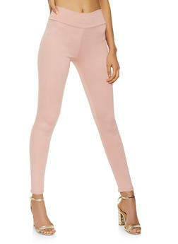 Ponte Knit Pull On Pants - 3061074015928