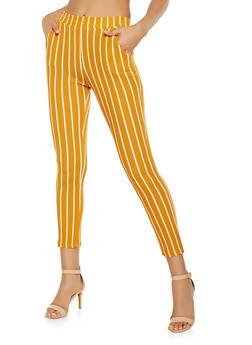Striped Crepe Knit Pants - 3061074019185