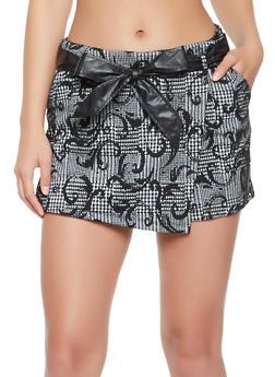 Printed Knit Skort - 3062015995012