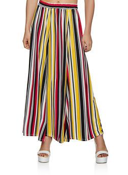 Soft Knit Striped Skater Skirt - 3062020623116