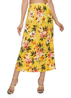 Floral Midi Pencil Skirt - 3062020624419