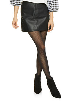 Faux Leather Mini Skirt - 3062051066458