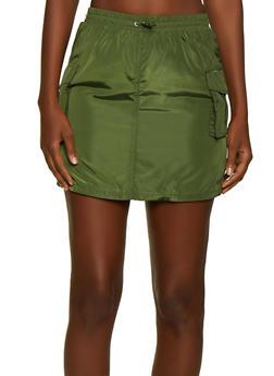 Nylon Cargo Skirt - 3062051066598
