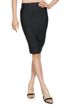 Solid Bandage Pencil Skirt - 3062062700107