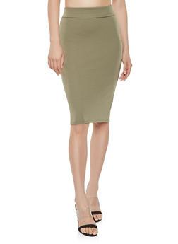 Midi Ponte Pencil Skirt - 3062062709951