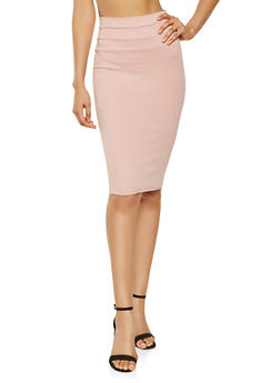 High Waisted Pencil Skirt - 3062074011516