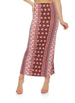 Printed Maxi Skirt - 3062074011532